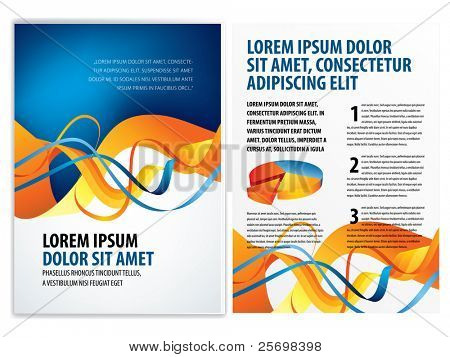 vector business brochure, booklet template