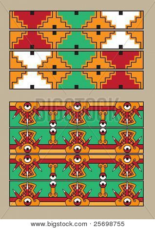 Mayan pattern vector set