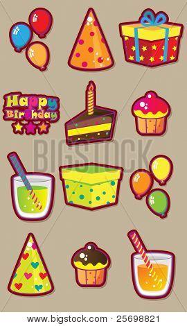 Birthday fun vector set