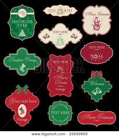Set of Christmas vintage frames