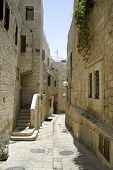 stock photo of cardo  - little back street in the old city of jerusalem - JPG