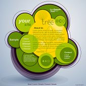 Abstract web site green design, vector template