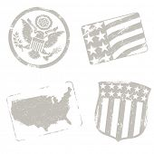USA travel stamps