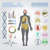 image of dna  - Medical infographics - JPG