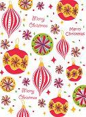 stock photo of christmas ornament  - Retro Christmas Seamless Pattern - JPG