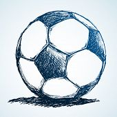 Soccer ball ink sketch