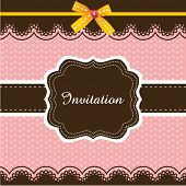stock photo of greeting card design  - Invitation card design 03 - JPG