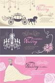 stock photo of chariot  - Wedding cards design template - JPG