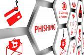 Phishing Concept Cell White Background 3d Illustration poster