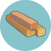 Three Wooden Planks Vector Icon. Planks Vector Icon. poster