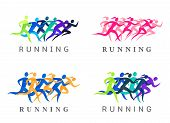 Running People Illustration poster