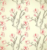 image of hand drawn  - Hand drawn floral wallpaper - JPG