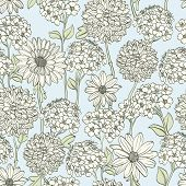 pic of hand drawn  - Hand drawn floral wallpaper - JPG