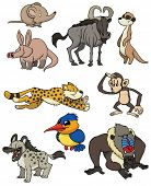 Nine African animals. All in different layers for easy editing.