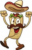 stock photo of tacos  - Cartoon mexican taco - JPG