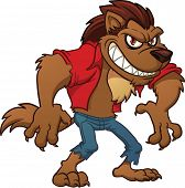 picture of werewolf  - Cartoon werewolf - JPG