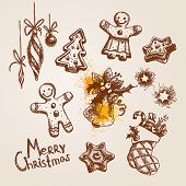 picture of christmas-present  - Set of Christmas icons - JPG