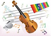 picture of musical instruments  - funny musical instruments - JPG