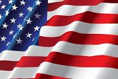 pic of american flags  - vector american flag - JPG