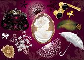 picture of cameos  - Victorian lady set - JPG