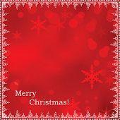 Постер, плакат: Абстрактный фон Красный Рождество и новый год