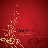 foto of music note  - Abstract musical background - JPG