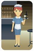 Постер, плакат: Профессия серии: официантка посетите нашу галерею для более профессий