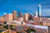 Oklahoma City, Oklahoma, USA downtown skyline at twilight. poster