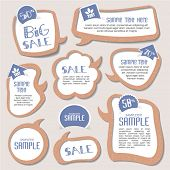 foto of text-box  - speech bubbles templates for your text - JPG