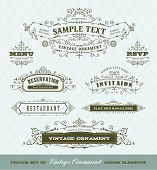 Vector-Set Vintage Ornamente
