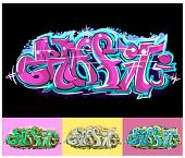 Texto de graffiti hip hop