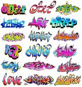 Graffiti urbano hip hop
