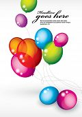 stock photo of helium  - vector of background with multicolored balloons - JPG