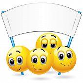 Постер, плакат: Смайлик шарики на совещании