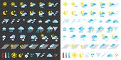 stock photo of hurricane clips  - Pictograms which represent weather conditions - JPG