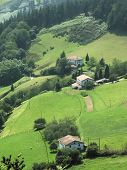 foto of basque country  - The pays basque countryside pyrenees atlantique aquitaine France - JPG