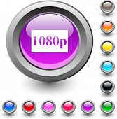 1080p  metallic vibrant round icon.