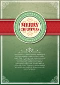 picture of applique  - Christmas background with label and snowflakes vector background - JPG