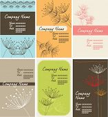 dandelion name-card set