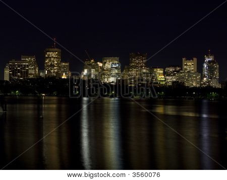 Boston Skyline On The Charles River