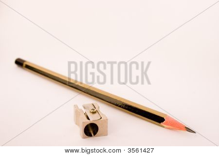 Pencil And Metal Sharpener