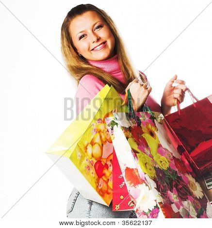 Shopping happy  woman