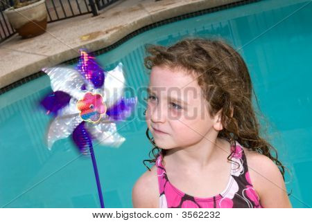 Little Girl And Her Pin Wheel