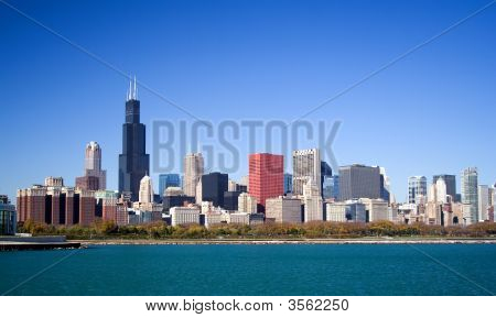 Chicago Skyline Incl Sears Tower