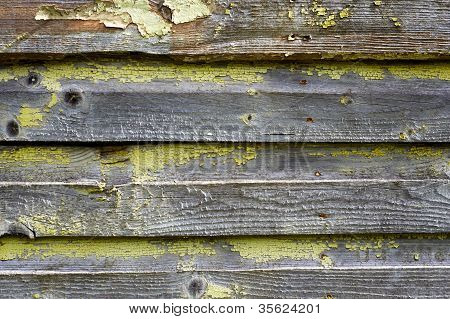 Old Cracked Painted Wood