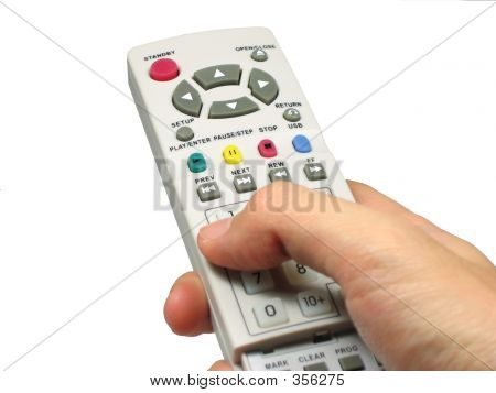Hand Holding A Remote