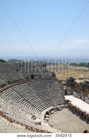 Amphitheater In Ancient City Hierapolis
