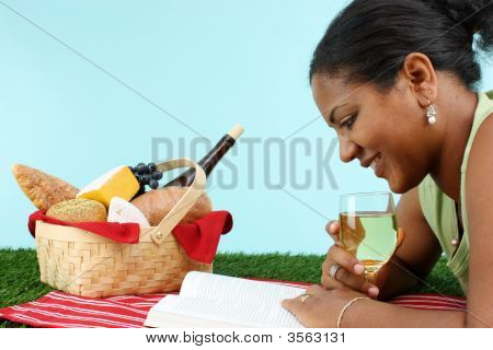 Woman With Picnic Basket
