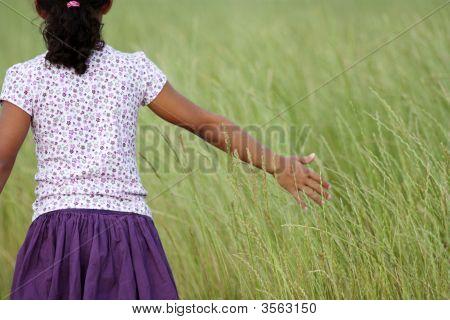Girl In Grass