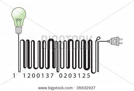 Electric bar code